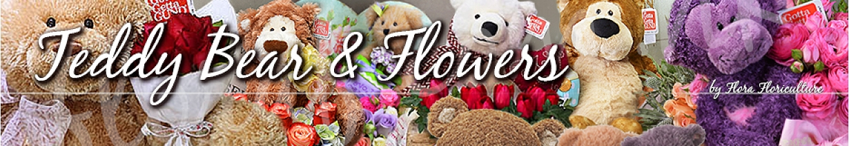 Teddy Bear & Flowers