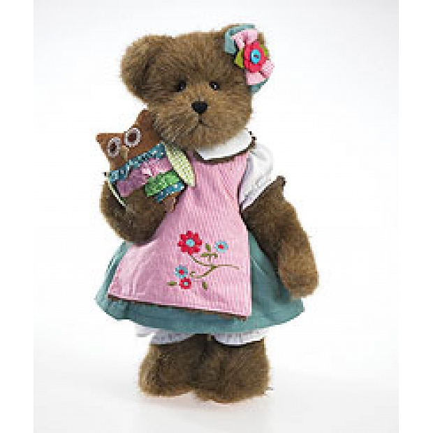 ADD-BE95   Chelsea McHootin with Owlivia Boyds Plush 12""